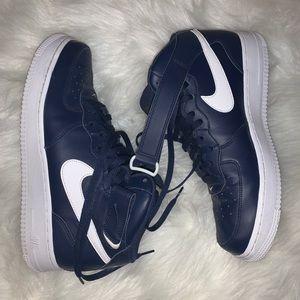 Mens Nike Air Force 1s, Navy & White, Sz 11